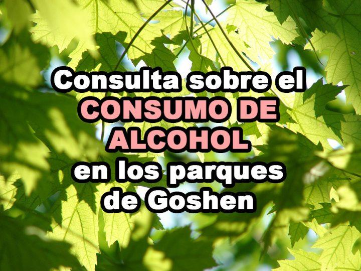Consulta sobre el consumo de alcohol en los parques de Goshen
