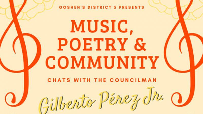 Música, Poesía y Comunidad; Conversaciones con el Concejal Gilberto Pérez Jr.