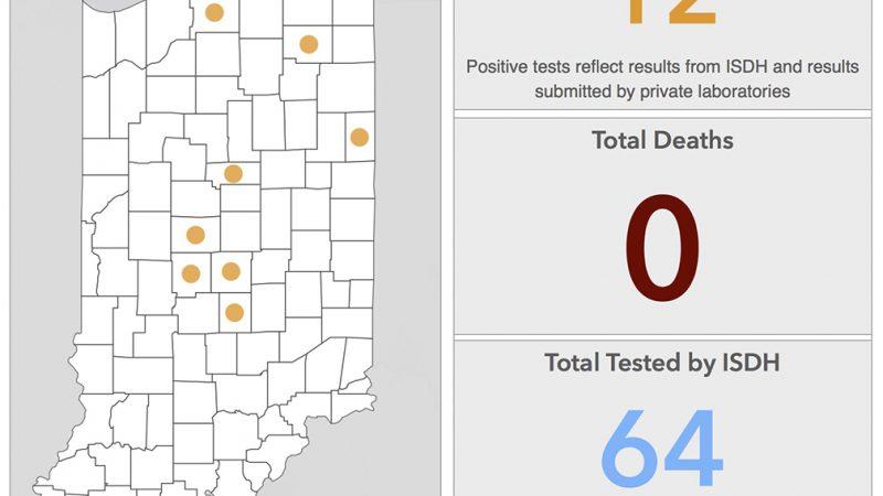 El Departamento de Salud del Estado de Indiana actualiza el número de infectados por coronavirus