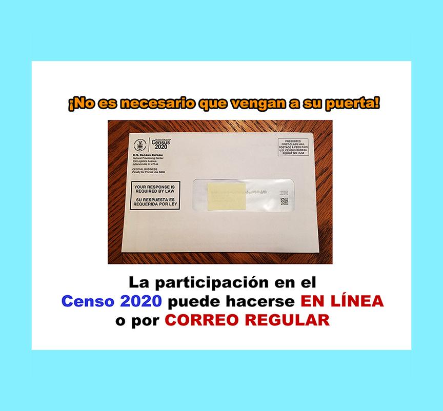 La participación en el Censo 2020 puede hacerse en línea o por correo regular