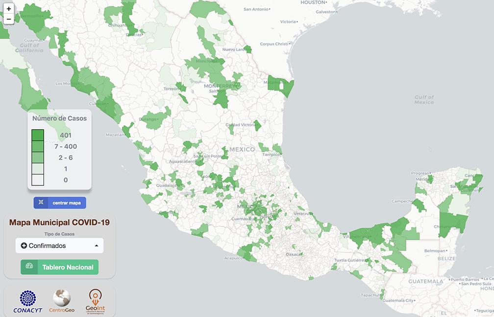 Consulte el mapa interactivo del coronavirus en México