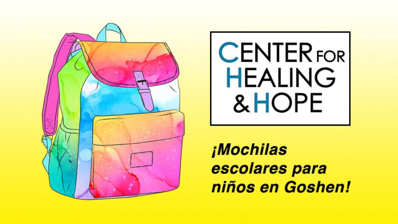 El Center for Healing and Hope repartirá mochilas escolares para niños