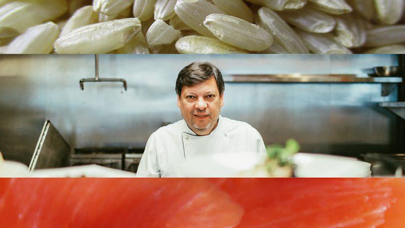Risotto de salmón ahumado