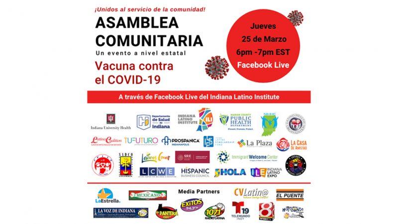 Participe en la SEGUNDA ASAMBLEA COMUNITARIA sobre la Vacuna contra el COVID-19