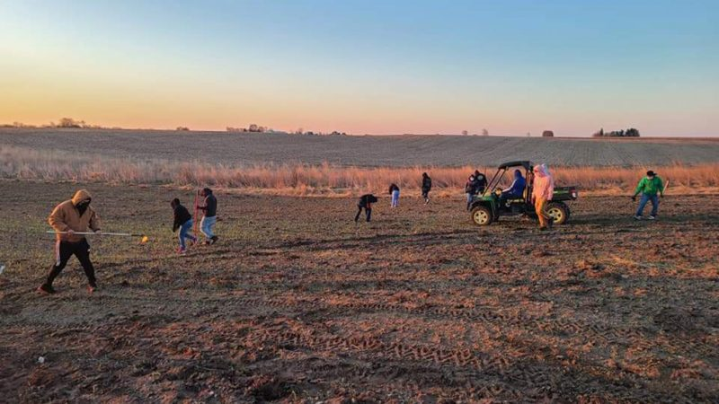 Proteus Collecting Face Masks for Farmworkers