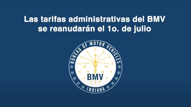Las tarifas administrativas del BMV se reanudarán el 1o. de julio