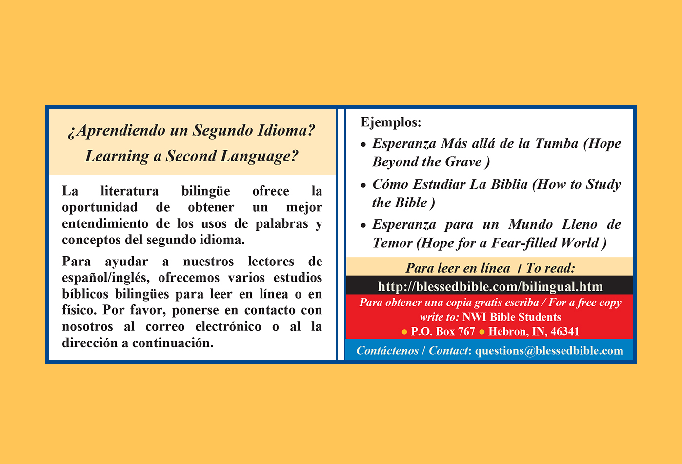 ¿Aprendiendo un segundo idioma?