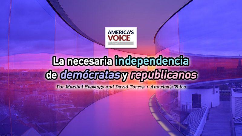 La necesaria independencia de demócratas y republicanos